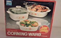 Vtg Corning Ware Wildflower   Casserole Trio Set A-33-7 1970s NEW IN BOX  #CorningWare