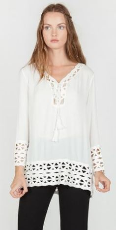 4ff9bb8ad78a9 Umgee-M9808 Off white or Black tunic available at Trees n Trends Black  Tunic