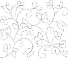 Like the basic flow of design but with crewel style flowers and leaves. Hand Embroidery Flowers, Hand Embroidery Stitches, Hand Embroidery Designs, Ribbon Embroidery, Crazy Quilting, Mexican Embroidery, Mosaic Patterns, Paint Designs, Machine Quilting