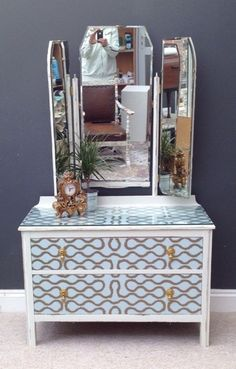 Upcycled Dressing Table Chest of Drawers Vivienne Westwood Bespoke & Beautiful | eBay