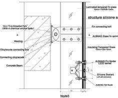 Resultado de imagen para curtain wall spider detail