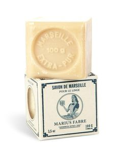 Cube of Pure Marseilles Soap In Vintage Style Box | Marius Fabre