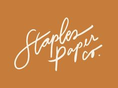 Staples Paper Company Logo Staples Paper Company Logo by Amanda Staples & design illustration lettering logo vector The post Staples Paper Company Logo appeared first on Jody Harris. Handwritten Logo, Script Lettering, Lettering Design, Script Type, Calligraphy, Logo Inspiration, Shop Logo, Creative Logo, Creative Studio