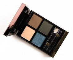 Tom Ford Last Dance Eyeshadow Quad Tom Ford Last Dance Eyeshadow Quad ($80.00 for 0.35 oz.) is a mix of gold, green, and a pop of glittering blue. Overall, all four shades had good or better color pay