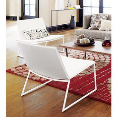 triumph ivory lounge chair in chairs | CB2