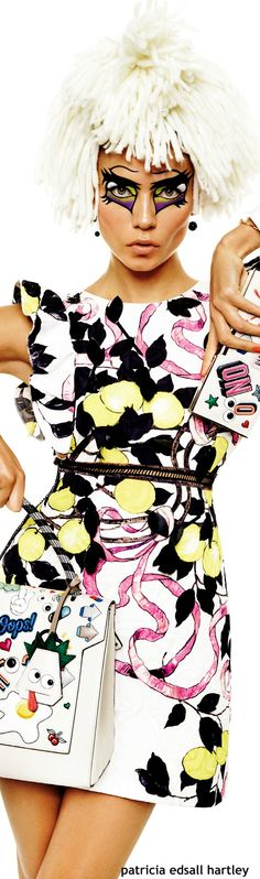 Color fashion Glam / Natasha Poly for Vogue Japan - March 2015 Foto Fashion, Quirky Fashion, Vogue Fashion, Colorful Fashion, World Of Fashion, New Fashion, Fashion Beauty, Rainbow Fashion, Miss And Ms
