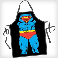 Cook your next meal in superhero style with the Superman DC Comics Be the Character Apron! This fun apron lets you become your favorite DC Comics superhero Superman. This apron is sure to be a hit at your next party. One size fits most. Great Father's Day Gifts, Cute Gifts, Best Gifts, Cool Aprons, Aprons For Men, Romantic Christmas Gifts, Christmas Gifts For Women, Christmas 2014, Holiday Gifts