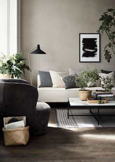 6 Startling Cool Ideas: Natural Home Decor Ideas Grey Walls all natural home decor interior design.Natural Home Decor House Living Rooms natural home decor rustic chairs.Natural Home Decor Inspiration Color Schemes. Living Room Interior, Home Living Room, Living Room Designs, Living Room Decor, Living Spaces, Apartment Living, Apartment Therapy, Bedroom Apartment, Scandinavian Interior Design