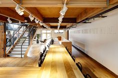 Meat and Bread Wall Seating, Adaptive Reuse, Stairs, Architecture, Building, Counter, Bread, Design, Home Decor