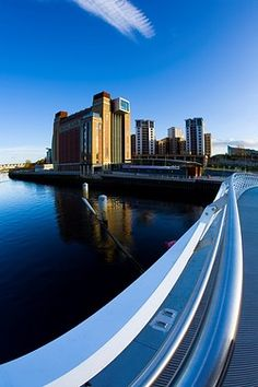 The Baltic Gallery in Gateshead viewed from the Millennium Bridge on the River…