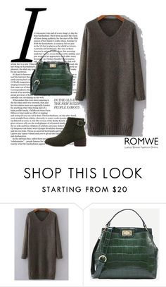 """""""ROMWE - 8/1"""" by thefashion007 ❤ liked on Polyvore featuring WithChic"""