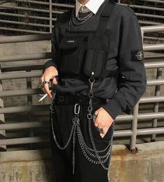 Korean Fashion – How to Dress up Korean Style – Designer Fashion Tips Grunge Outfits, Tumblr Outfits, Edgy Outfits, Fashion Moda, Boy Fashion, Korean Fashion, Mens Fashion, Fashion Outfits, Fashion Design