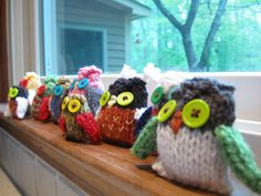 knitted owls-adorable