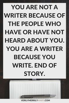 If you write, you are a writer. Full stop. You are not an aspiring writer. Click through for this important message that every writer needs to hear.