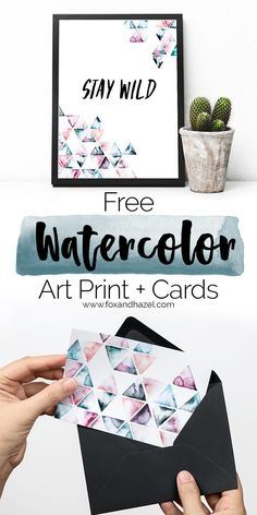 Sometimes the best design is when there's just a little less. Download this free art print + notecards to send some nice words in!