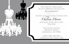 Chandelier Lingerie Invitation