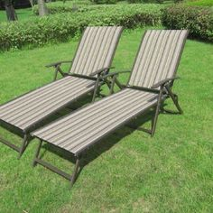 Outdoor Lounge Chairs Set 2 Sling Folding  Furniture Multiple Colors #Mainstays