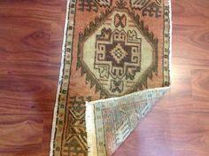 Anatolian Hand made Vintage Bohemian rugBath by hubNconcept