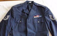 USAF Uniform Decorated Sergeant Dress Coat Jacket US Air Force Bars Patches