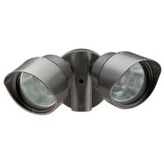 Lithonia Lighting 2 Lamp Outdoor Bronze Floodlight Oftr 200q 120 Lp Bz M12 At The Home Depot