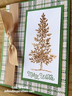 A long time favorites! Stampin' Up! Lovely As A Tree for Christmas! www.inkandinspirations.com
