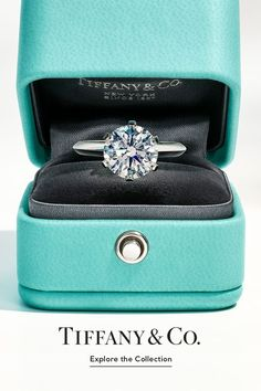Azul Tiffany, Tiffany Blue, Beautiful Engagement Rings, Cute Rings, Dream Ring, Wedding Wishes, Diamond Are A Girls Best Friend, Cute Jewelry, Promise Rings