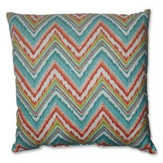 Pillow Perfect Chevron Cherade Floor Pillow 245Inch *** This is an Amazon Affiliate link. Visit the image link more details.