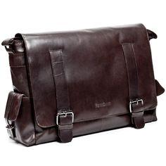 4261d3a50 Amazon.com: FEYNSINN messenger bag ASHTON - Shoulder bag leather brown-crumply  - notebook-bag: Clothing