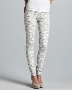 I want these so bad!! Lace Skinny Jeans
