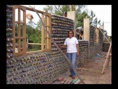 Make your own home with plastic bottles!! Construcciones o casas de PET botellas de plastico en el papelote tv de Villaflores, chiapas pet