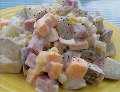 Ham and cheese potato salad Not Enough Thyme (636) 235-6094 https://m.facebook.com/caterernet  email: cetcatering@yahoo.com