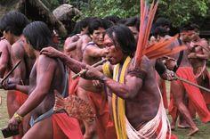 Os Wajãpi, Norte do Brasil. Festa do Pacu Açu. (Foto: Mário Vilela/FUNAI)