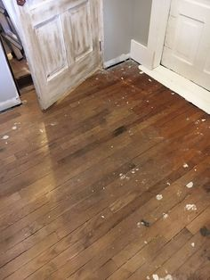 You read that right! No stain, no polyurethane, just plain ole oil! Refinish Your Old Floors Using Oil! Staining Wood, Old Wood Floors, Old Wood, Flooring, Flooring Inspiration, Refinish Wood Floors, Hardwood, Refinished, Diy Wood Floors