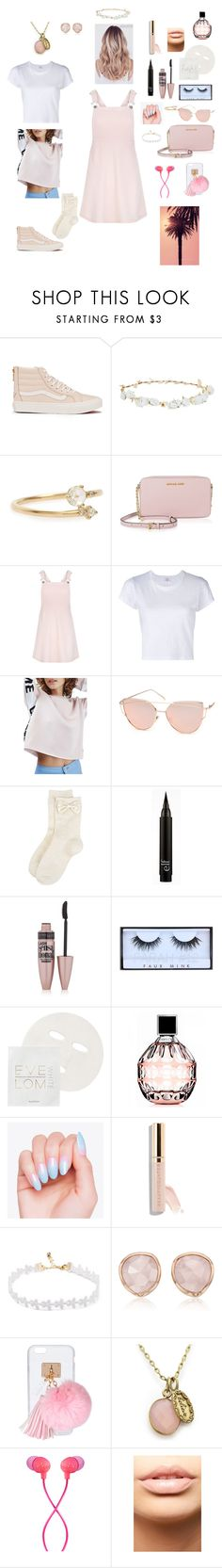 """""""♡♡♡ #pink #bts #jin"""" by btsrules ❤ liked on Polyvore featuring Vans, Design Lab, WWAKE, MICHAEL Michael Kors, New Look, RE/DONE, Topshop, Chicnova Fashion, Monsoon and Maybelline"""