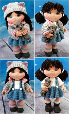 free and cute amigurumi doll patterns