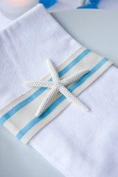 Starfish napkin decor