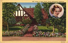 Bette Davis Home in North Hollywood Postcard | San Fernando Valley Blog