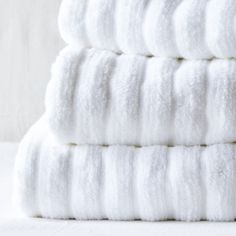 Buy Rib Hydrocotton Towels - White - from The White Company