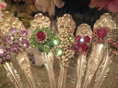 These serving pieces are quite fabulous……..want!  Vintage jeweled Silver Serving Pieces (by sandra Lujan)