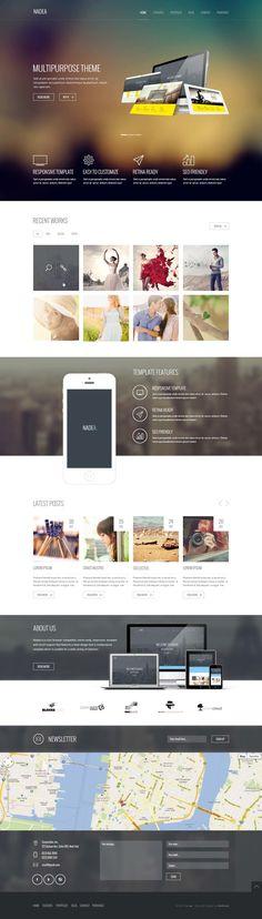 Nadea – Multipurpose PSD Template #web #ui #design www.alexsung.me