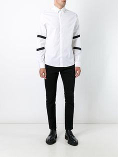Les Hommes striped sleeve shirt