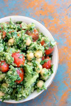 Lemon Quinoa Avocado Cilantro Chickpea Salad