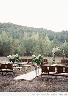 Ideas para decorar boda ceremonia en jardín