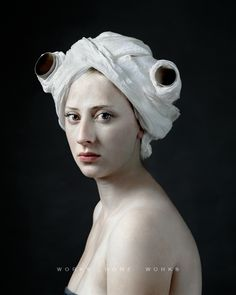 IS THIS TOILET PAPER?? With His Daughter As Muse, Photographer Hendrik Kerstens Emulates Flemish Paintings.