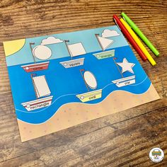 Transportation Activity Pack - Pre-K Printable Fun Transportation Preschool Activities, Transportation Theme, File Folder Activities, Writing Activities, Abc Centers, Shape Games, Shape Puzzles, Pre Writing, 1st Year
