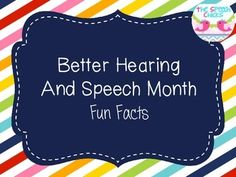 This packet contains a fun fact for each day of Better Hearing and Speech Month (BHSM). Use these fun facts to raise awareness to communication disorders and to help raise awareness to the benefits of early intervention.The calendar which appears on the second page is hyperlinked so you are able to click on the given day of the month and it will take you directly to that day's fun fact!Let's help spread awareness during BHSM!