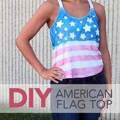 DIY Summer Tank Tops : DIY American Flag Shirt Craft