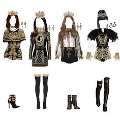 Korean Fashion Dress, Kpop Fashion Outfits, Stage Outfits, Mode Outfits, Retro Outfits, Dance Outfits, Cute Casual Outfits, Stylish Outfits, Girl Outfits