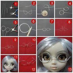 ¡A tus niñas más pequeñas les encantara esta manualidad! Hoy haremos gafas de alambre para muñecas.
