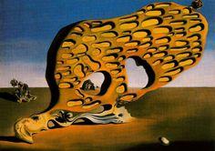 Salvador Dalí, El enigma del deseo - Mi madre, mi madre, mi madre, 1929. Óleo sobre lienzo, 110 x 150.7 cm, Staatsgalerie Moderner Kunst, Munich, Alemania.